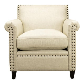Spectra Home Traditional Linen Accent Chair