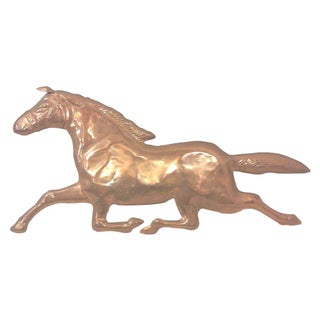 Mid-Century Copper Horse Wall Sculpture