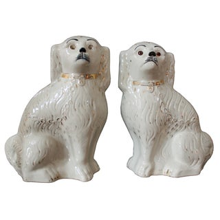 Victorian Staffordshire Dogs - Pair