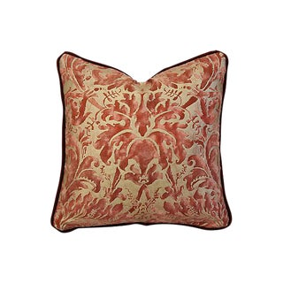 Custom Tailored Mariano Fortuny Lucrezia & Mohair Pillow
