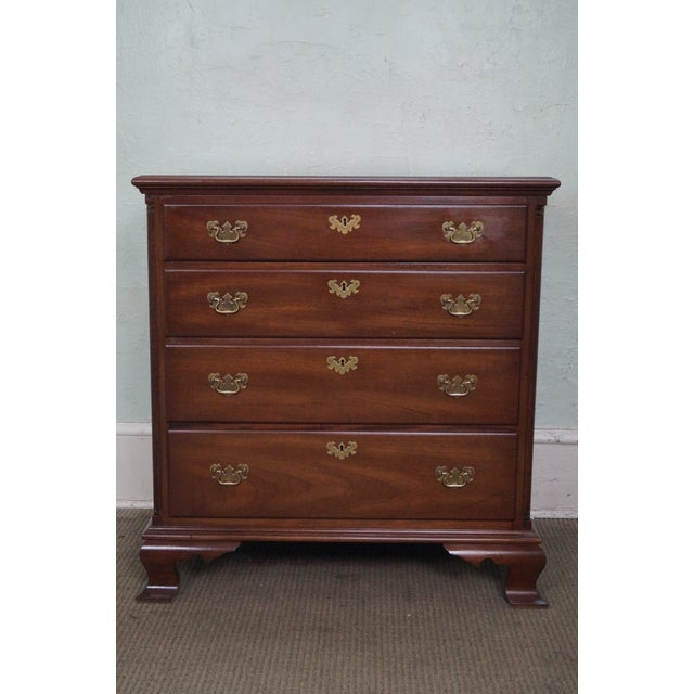 Image of Kittinger Old Dominion Mahogany Chippendale Style Chest of Drawers Chest