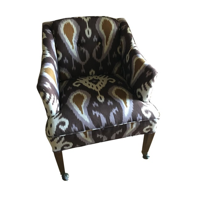 Ikat Linen Chair - Image 1 of 5