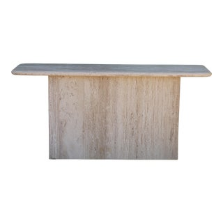Travertine Two Piece Console Table