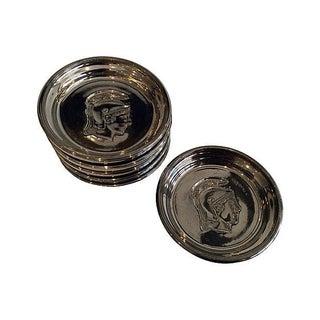 Roman Soldier Mercury Glass Coasters- Set of 6