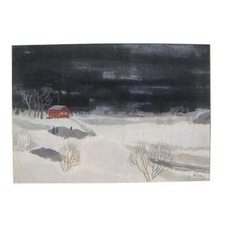 Alexanderson Scandinavian Winter Painting