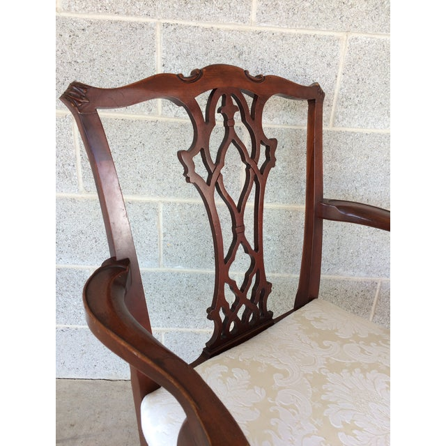 Vintage Baker Chippendale Style Ball & Claw Mahogany Dining Chairs - Set of 6 - Image 3 of 10