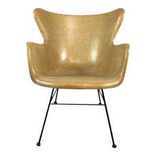 Lawrence Peabody Style Mid-Century Wingback Chair