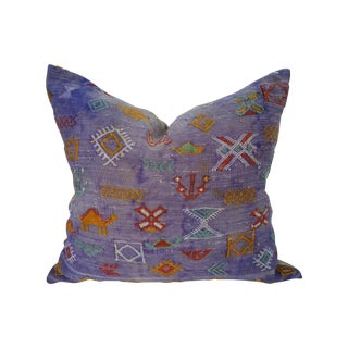 Purple Softly Faded Tribal Pillow