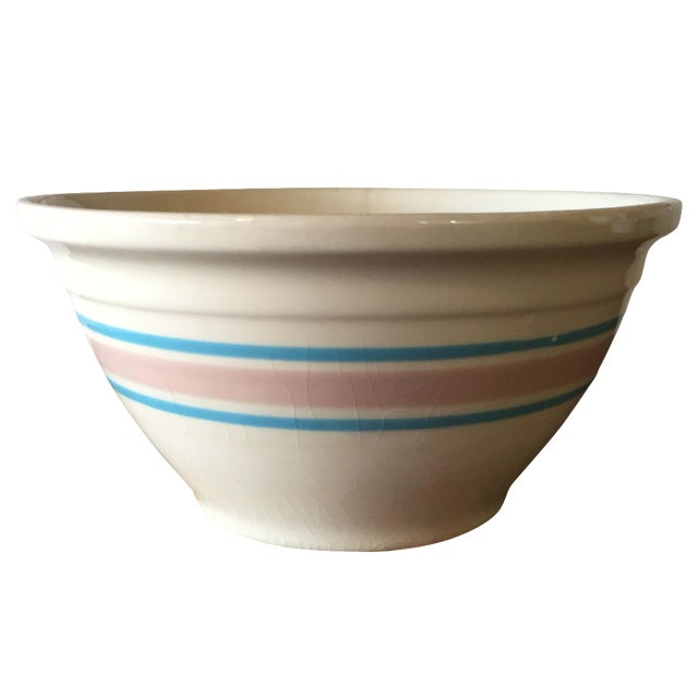 Blue & Pink Striped McCoy Mixing Bowl - Image 1 of 5