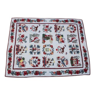 20th Century Hand Made Repro Applique Quilt