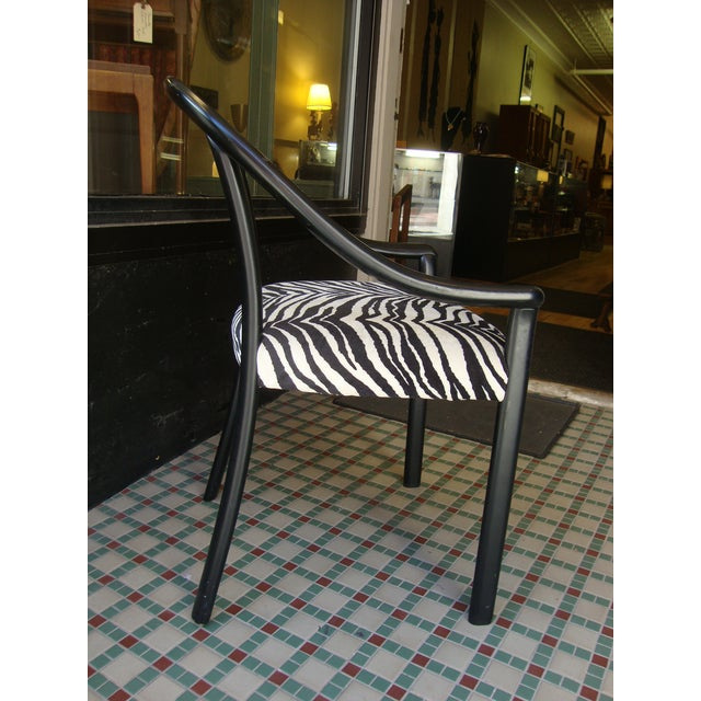 Image of 1980s Black Frame Dining Chair - Set of 4