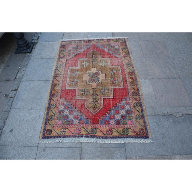 "Turkish Anatolian Oushak Carpet - 41"" x 53"" - Image 2 of 6"