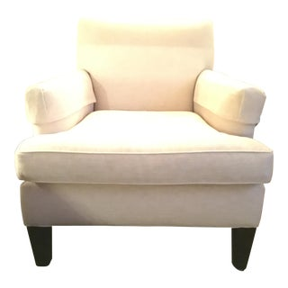 Crate & Barrel White Armchair