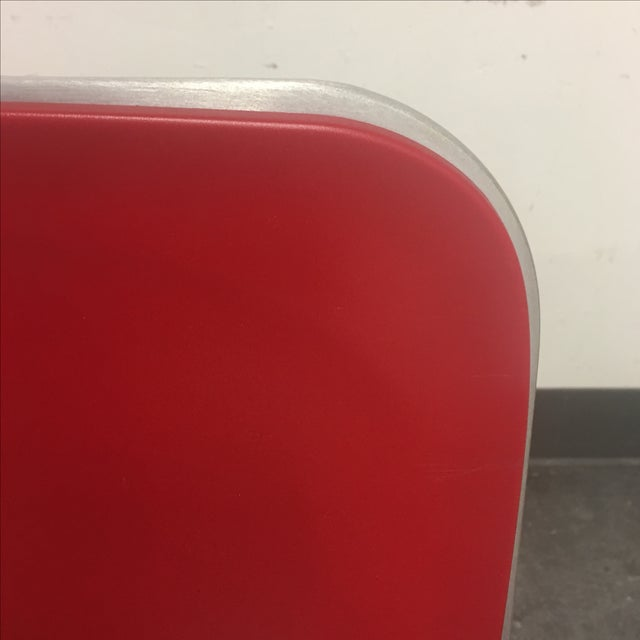 1951 Design Within Reach Emeco Red Chairs - A Pair - Image 6 of 8