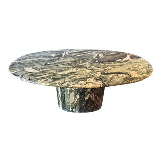Maurice Villency Oval Marble Dining Table