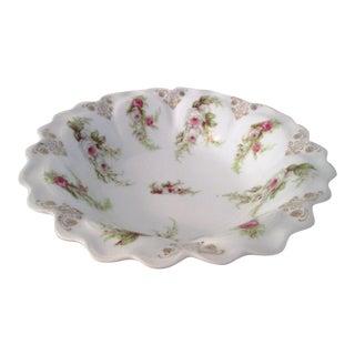 Antique Mignon White Rose Serving Bowl