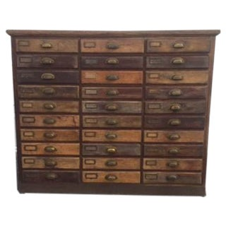 Antique 30 Drawer Wooden Apothecary Cabinet