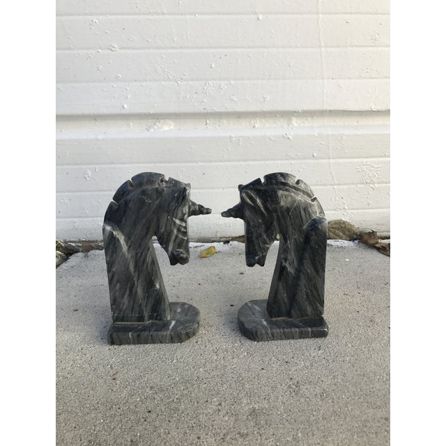 Italian Marble Unicorn Bookends - a Pair - Image 4 of 4