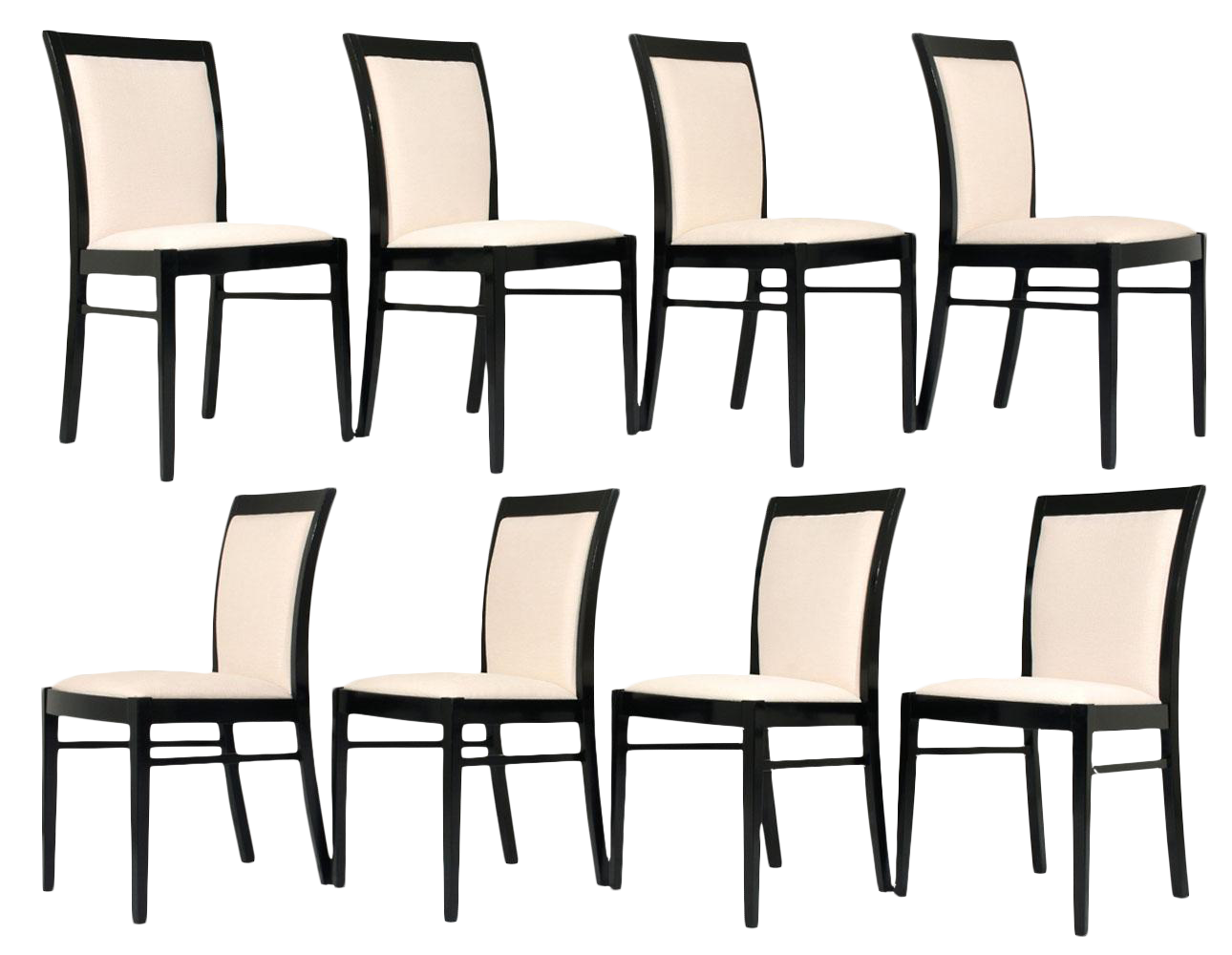 dining chair clipart. set of eight regency-style dining chairs chair clipart
