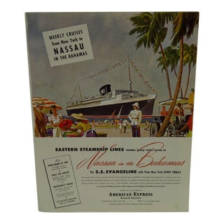 Vintage Eastern Steamship Lines - Nassau in the Bahama's Advertising Magazine Page