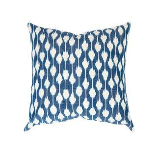 Guatemalan Dotted Indigo Ikat Handwoven Pillow