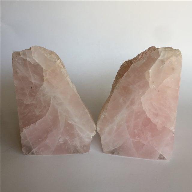 Rose Quartz Bookends - A Pair - Image 7 of 10