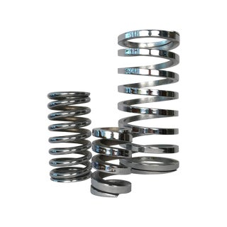 Decorative Chrome Solid Steel Springs - Set of 3
