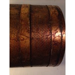Image of Vintage Regency Wastebasket in Copper Glaze Finish
