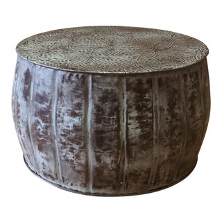 Iron Round Accent Drum Coffee Table