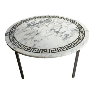 Mid-Century Greek Key Italian Marble Coffee Table
