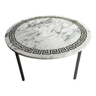 Mid-Century Greek Key Italian Marble Coffee Table