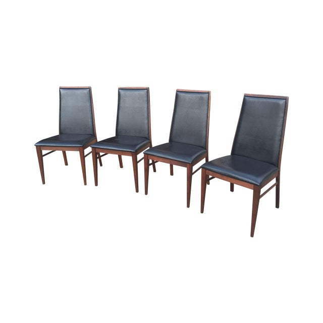 Milo Baughman Mid-Century Walnut Chairs - Set of 4 - Image 1 of 7
