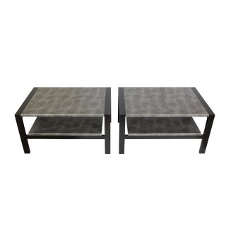 Brown Saltman Vintage Side Tables - A Pair