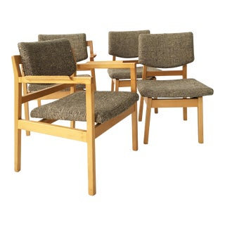 Jens Risom Dining Chairs - Set of 4