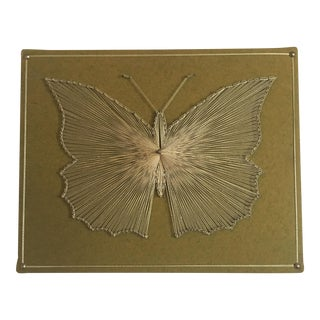 Vintage Butterfly String Art