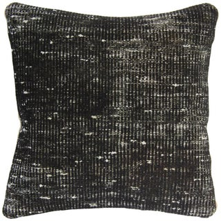 Vintage Handmade Black Overdyed Pillow Cover