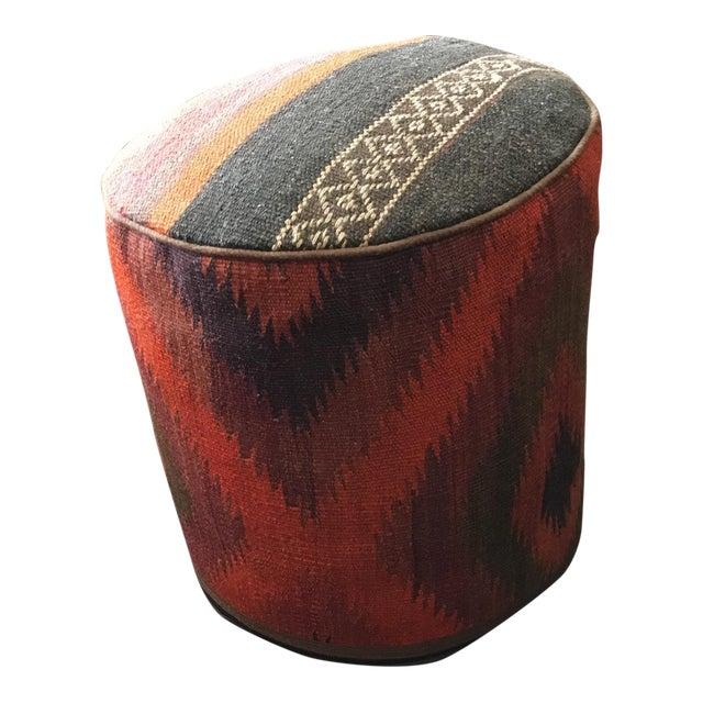 Vintage Turkish Kilim Rug Ottoman - Image 1 of 9