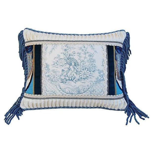 Designer Kravet Blue & White Chinoiserie Pillow - Image 2 of 5
