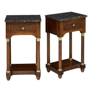 Empire Style Marble Top Side Tables- A Pair
