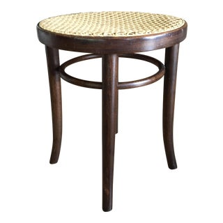 Bentwood & Cane Backless Vanity Stool