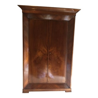 Guido Zichele For Bloomingdales Italian Burled Walnut Armoire
