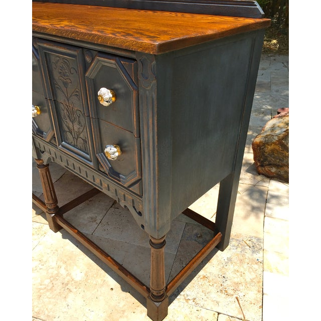 Vintage Jacobean Style Sideboard - Image 5 of 9