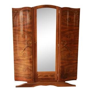 1930s French Art Deco Mirrored Wardrobe