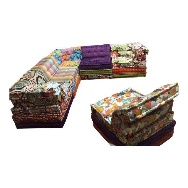 hans hopfer roche bobois missoni mah jong sectional chairish. Black Bedroom Furniture Sets. Home Design Ideas