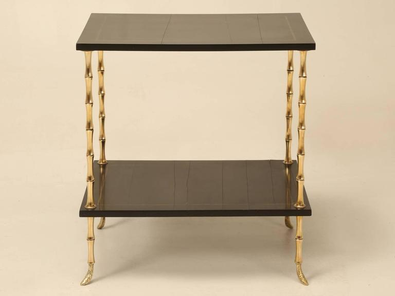 Maison Jansen Attributed Bamboo End Table   Image 2 Of 10