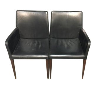 Poltrona Frau Leather Chairs - A Pair