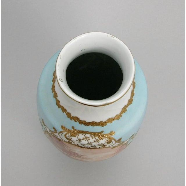 French Antique Porcelain Toile Vase - Image 7 of 10