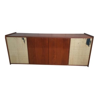 Mid Century Teak Stereo/Record Floating Cabinet