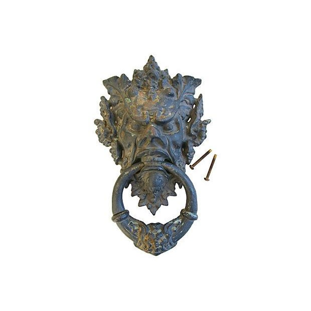 Vintage Large Mythical Creature Door Knocker - Image 2 of 7