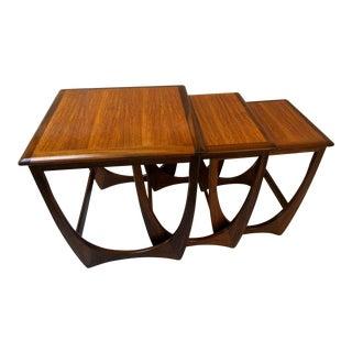 G Plan Astro Style Mid-Century Modern Nesting Tables - Set of 3